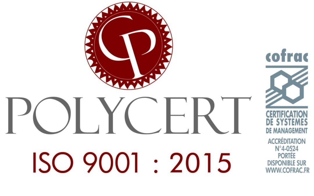 CERI obtient la certification ISO 9001 Version 2015