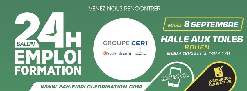 Groupe CERI au salon 24H pour l'Emploi et la Formation le 8 septembre à Rouen